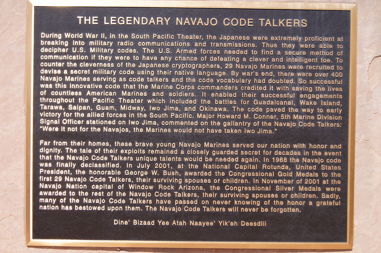Prescott Area Daily Photo Navajo Code Talkers Memorial