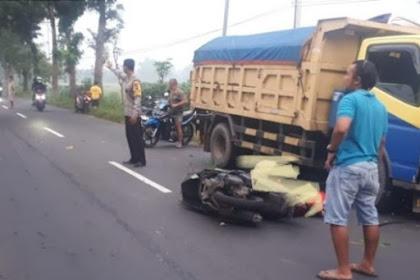 Tabrak Truk Di Jalan Raya Pulorejo Jombang Pemotor Tewas
