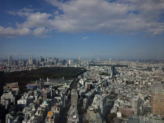 渋谷スカイ屋上からの景色です。