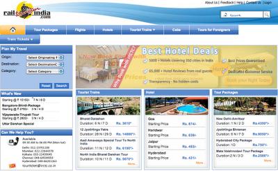 Rail tourism website