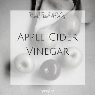 real food abcs | a for apple cider vinegar