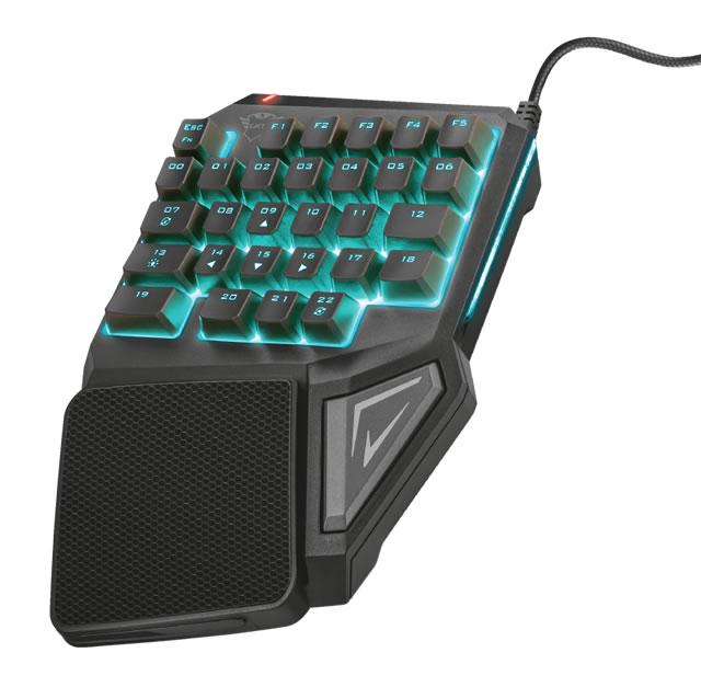 Trust GXT 888 ASSA one-hand keyboards