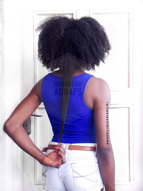 Waist length type 4b type 4c natural Nigerian hair