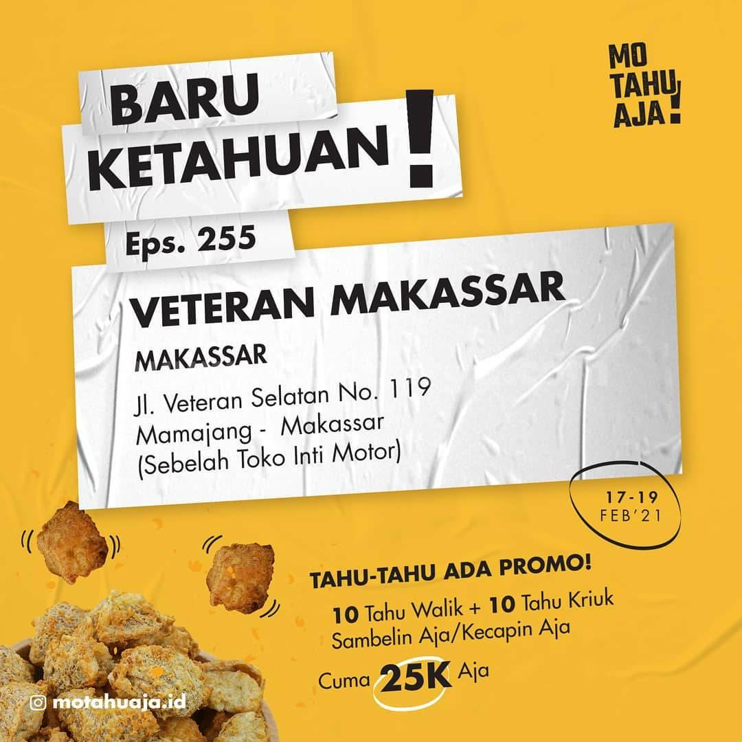 Mo Tahu Aja Veteran Makassar Opening Promo Paket 20 Tahu cuma Rp 20.000