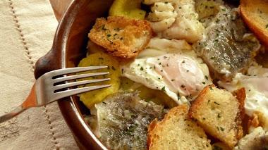 Bacalao con cebolla en 15 minutos