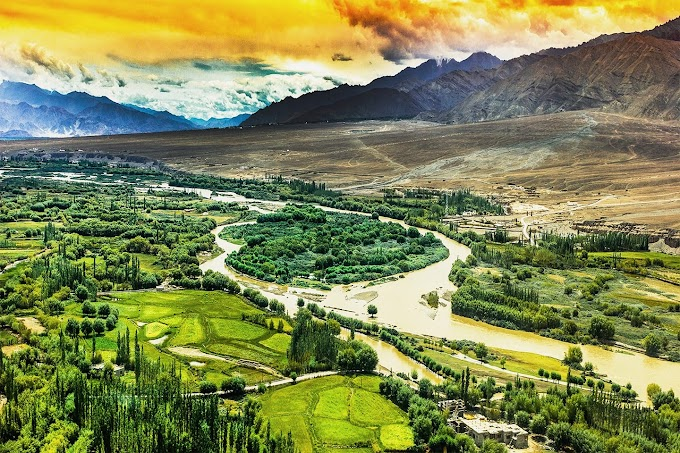 United Colours Of India With Green Heart Of Indus, Ladakh.