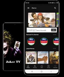 تحميل تطبيق مشاهدة الأفلام والقنواة المشفرة تطبيق JOKER TV apk للأندرويد