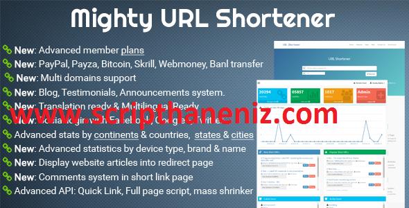Link.TL Benzeri Link Kısaltma Scripti İndir