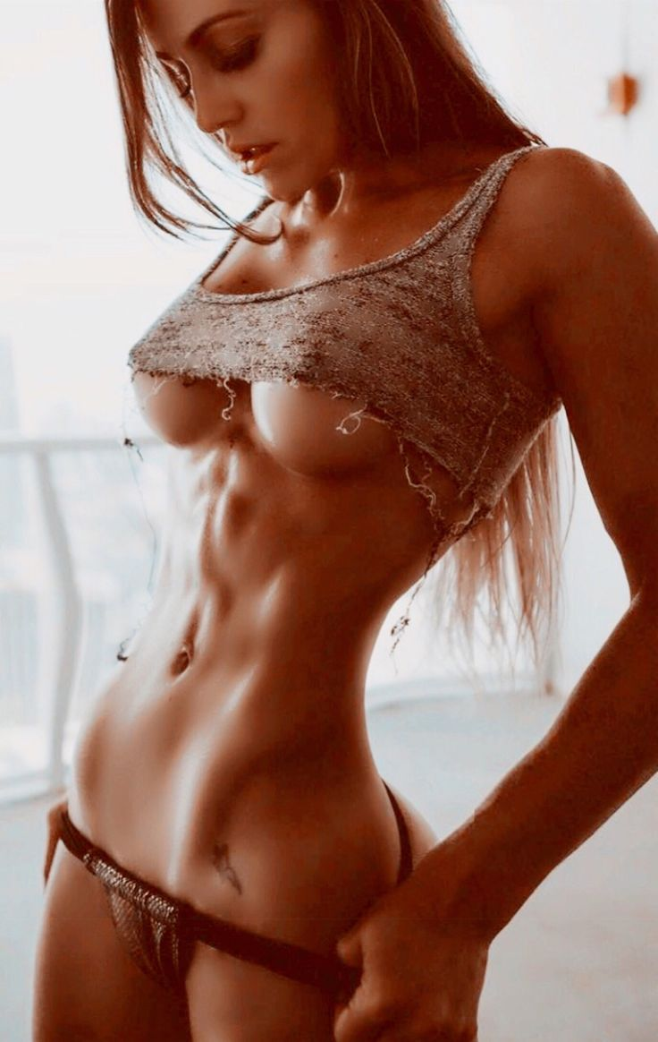 Naked girl nice abs