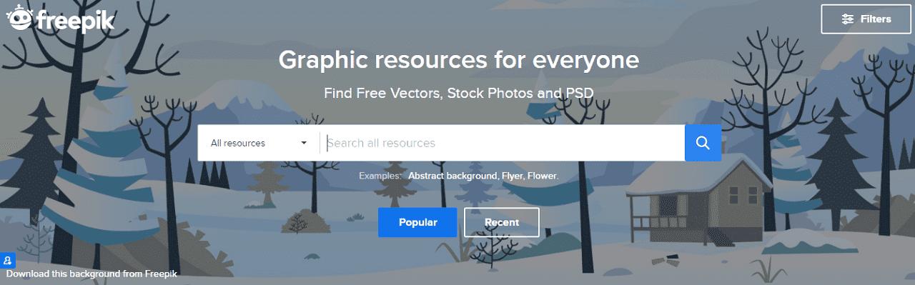 Freepik Situs download gambar vector gratis