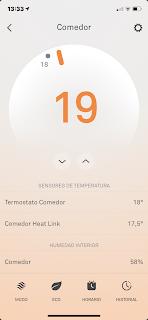 Temperatura actual y temperatura deseada