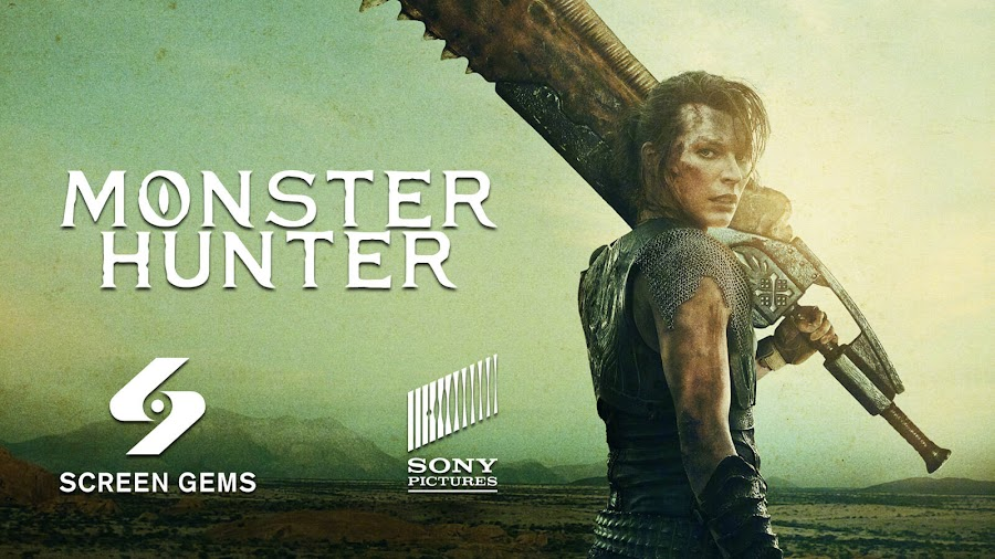 monster hunter movie teaser poster reveal milla jovovich capcom constantin films screen gems sony pictures tencent
