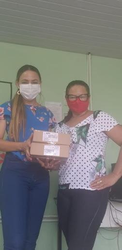 8ª GRE da cidade de Oeiras faz distribuição de chips para alunos