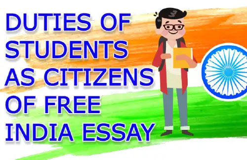 Duties of Students as Citizens of Free India