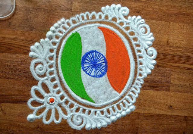 Indian rangoli designs with dots