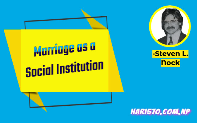 Marriage as a Social Institution