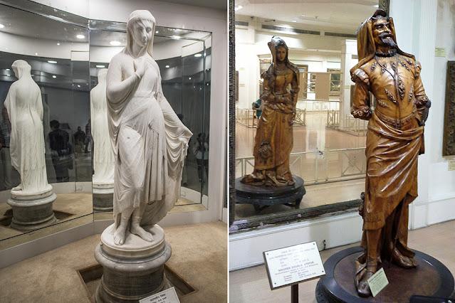 Veiled Rebecca & Double sculpture of Mephistopheles & Margaretta