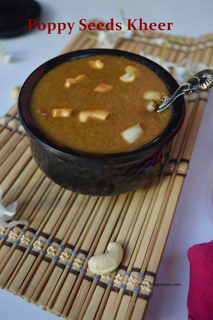 Poppy Seeds Kheer Recipe | Gasagase Payasa | Khus Khus Kheer
