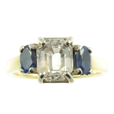 Art Deco Sapphire Ring from Carus Jewellery UK