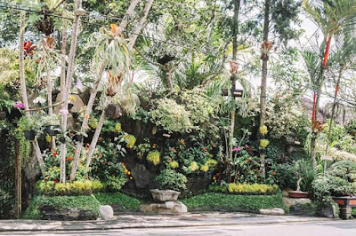 International flower competition by hanging gardens of Bali