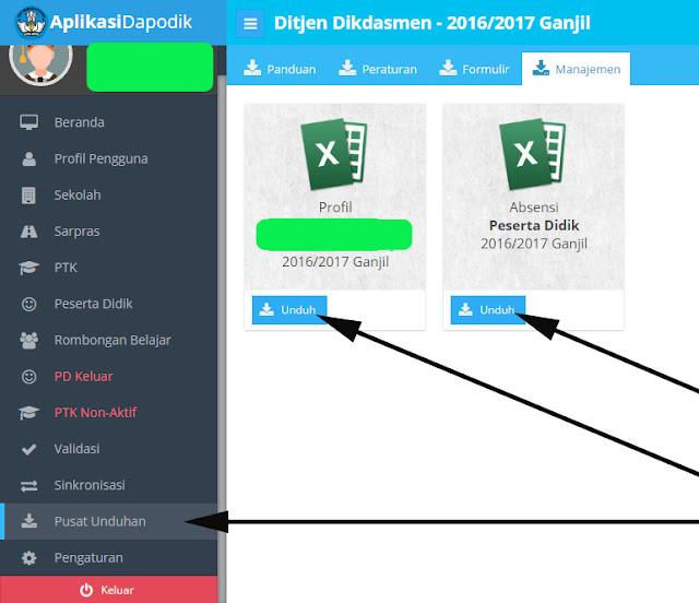 Cara Download Unduh Profil Sekolah Di Aplikasi Dapodik Versi 2016 Sd Smp Slb Sma Dan Smk