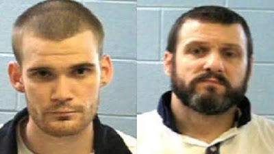 Inmates Ricky Dubose (left) and Donnie Russell Rowe