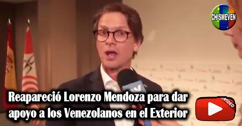 Reapareció Lorenzo Mendoza para dar apoyo a los Venezolanos en el Exterior