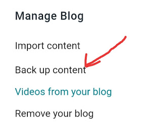 Blogger Blog Ka Backup Kaise Le