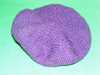bereta violet handmade tricotata