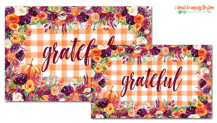 Free Placemats for Fall