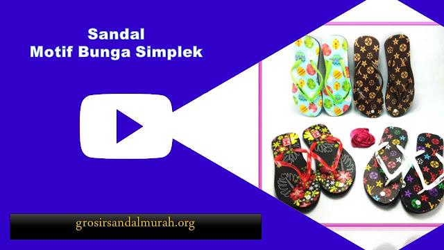 grosirsandalmurah.org - Sandal Wanita - AMX Motif Bunga Simplek