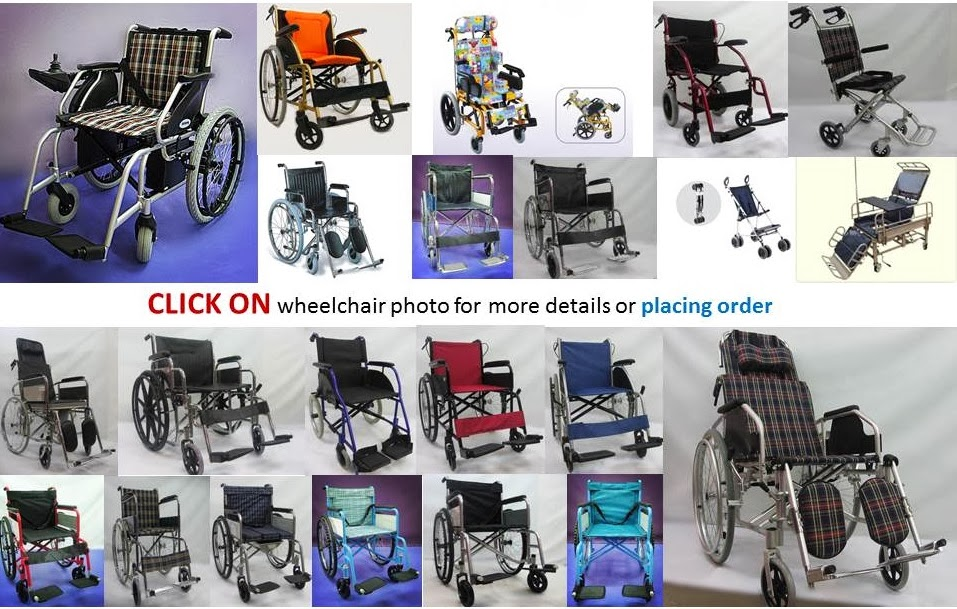 CLICK ON wheelchair photo for more details or placing order: