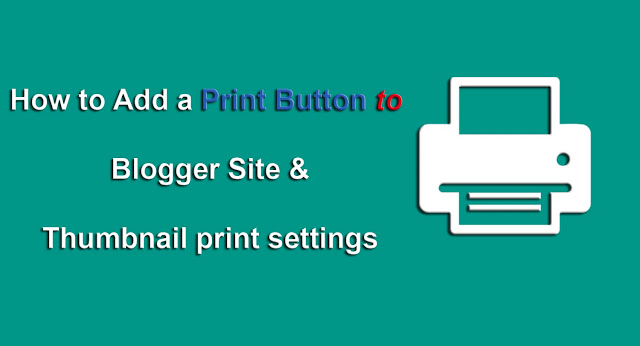 Add Print Button & Thumbnail print settings