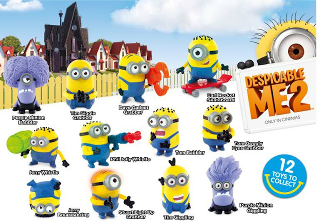 GeekMatic!: Happy Meal 2013: Despicable Me 2 Minions!  Despicable
