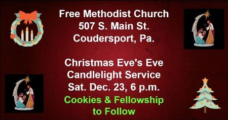 12-23 Christmas Eve's-Eve Service, Coudersport