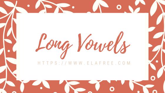 Long Vowels Free Worksheet