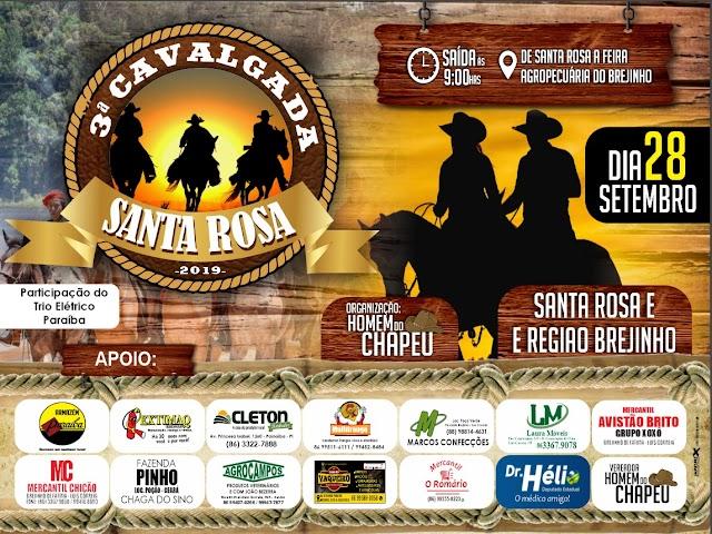 3ª Cavalgada dos Amigos da comunidade Santa Rosa e região Brejinho