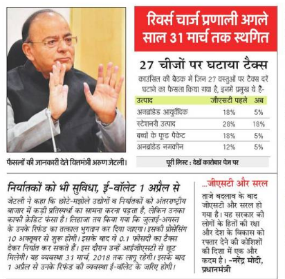 Revised GST Rate List