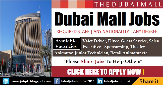 Dubai Mall jobs in Dubai 2017