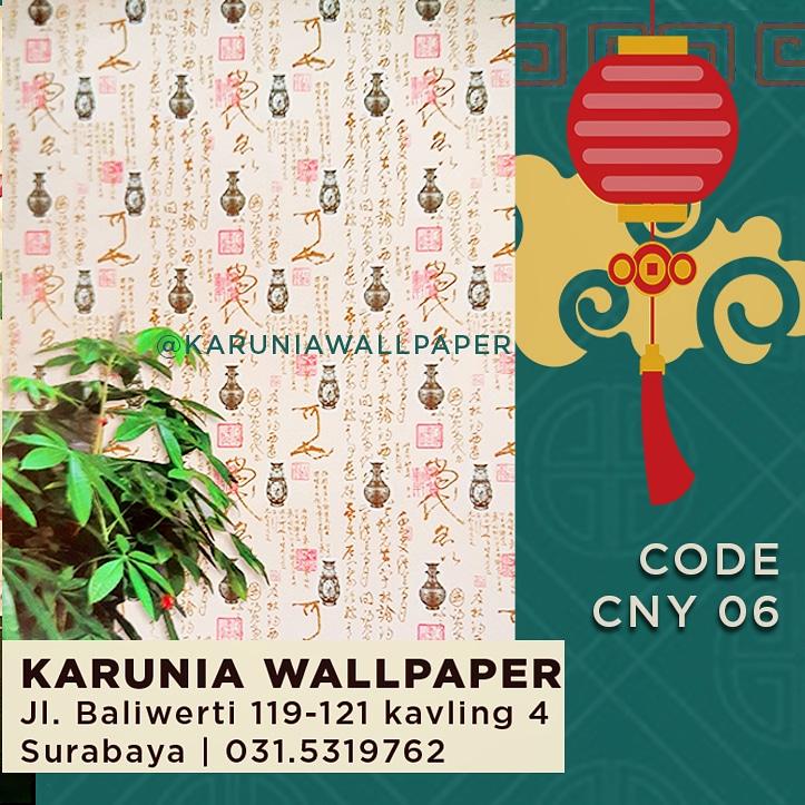 jual wallpaper dinding hiasan imlek cina