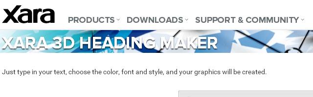 Crear títulos de texto en linea - Xara 3D Maker - Solo Nuevas