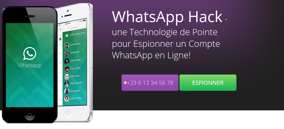 pirater le compte whatsapp