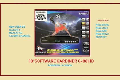 10 Software Gardiner Ottimo G-88 HD - New Skin Upgrade