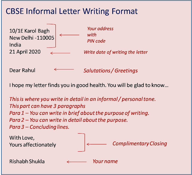 Crayonsler  Formal Letter And Informal Letter Format And