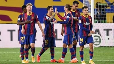 تشكيلة برشلونة الرسمية أمام رايو فاليكانو في كأس ملك إسبانيا
