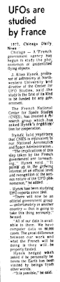 UFOs Are Studied By France - Houston Chronicle 10-8-1977