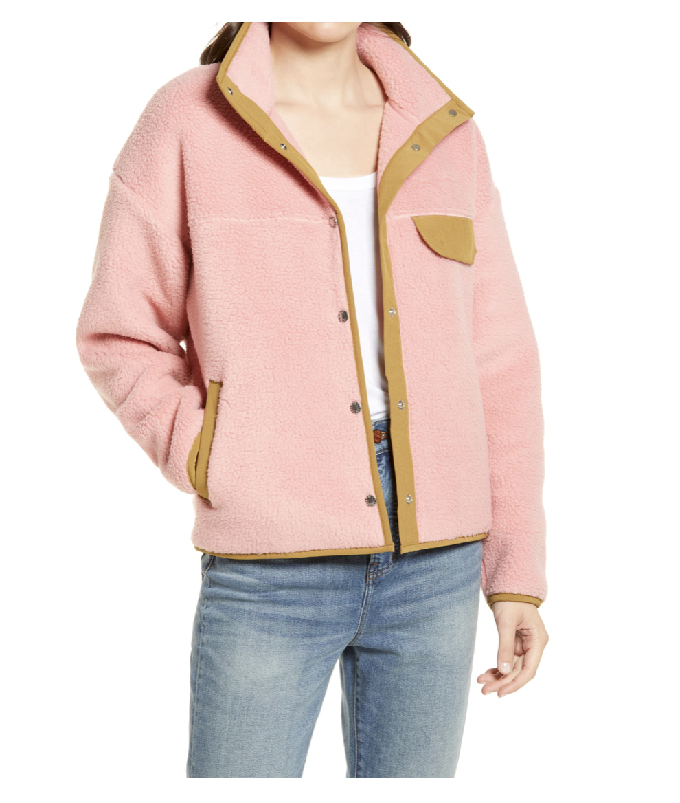 The north face pink fleece
