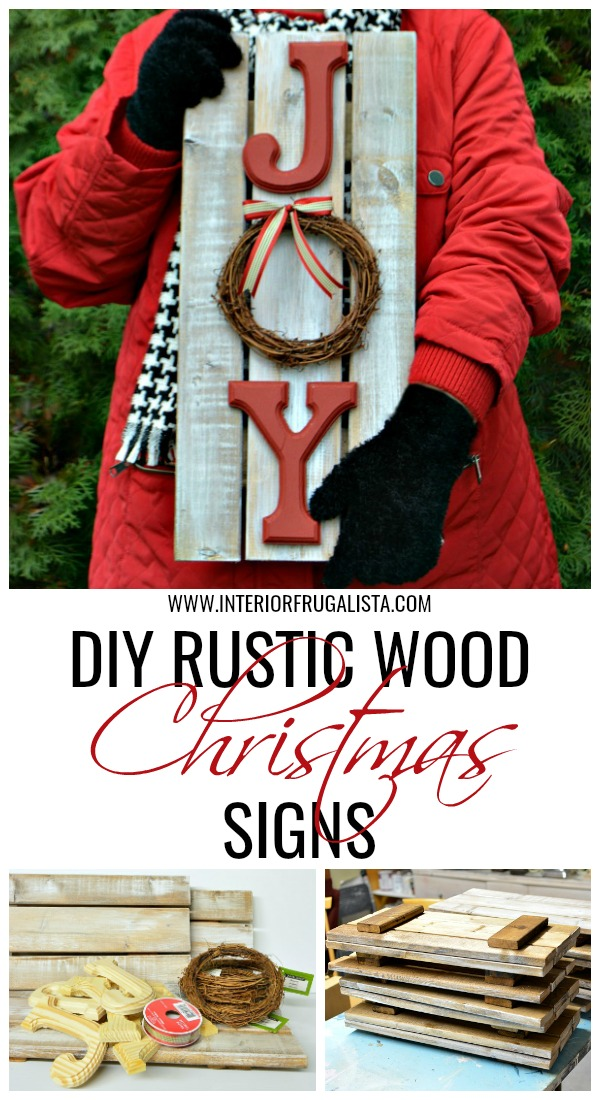DIY Rustic Wood Christmas Signs