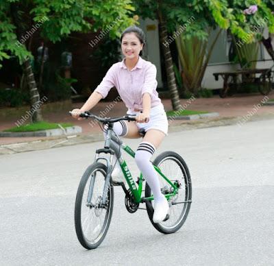 Xe đạp thể thao nữ SK2 xanh