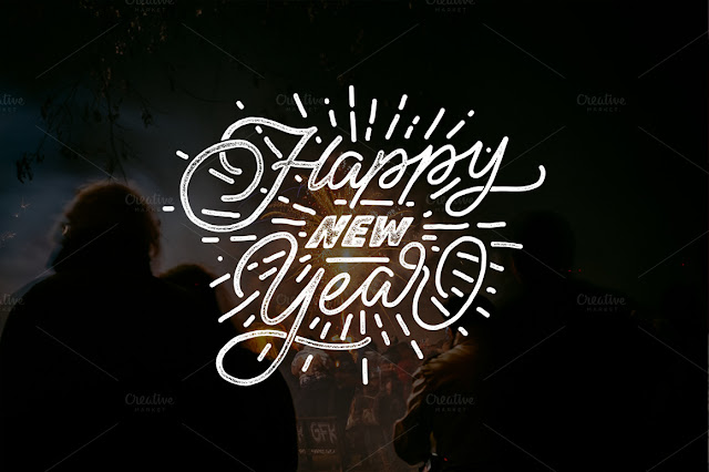 HAPPY NEW YEARS -Lettering Overlays